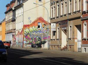 Giebel in der Leipziger Straße