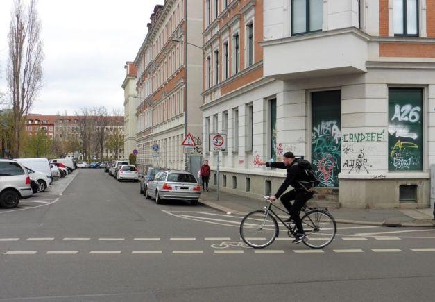 Rubensstraße, Blick Richtung Lene-Voigt-Park