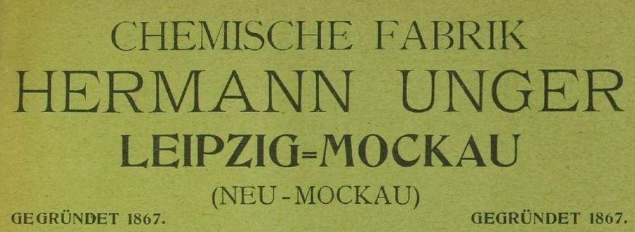 Aus dem Adressbuch Mockau-Thekla von 1903