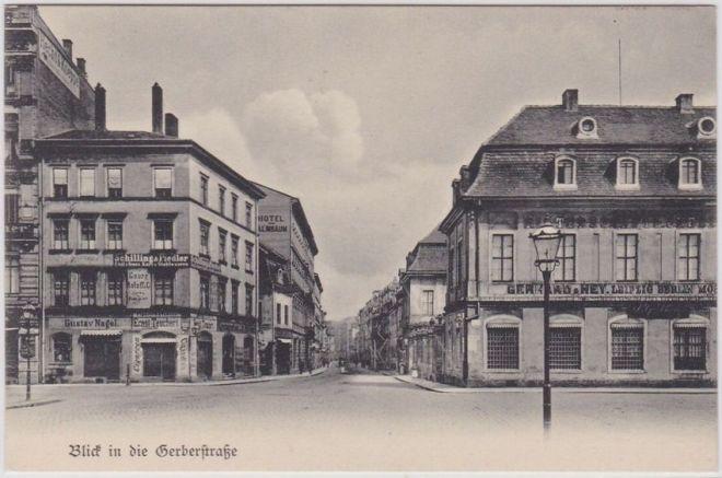 Gerberstraße zu Beginn des 20. Jahrhunderts (Archiv PH)
