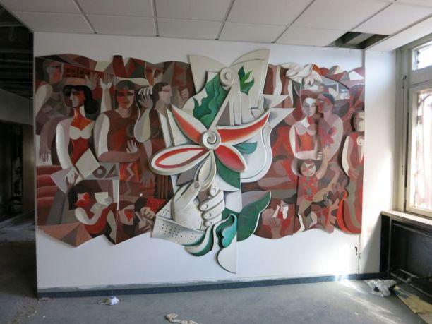 Robotron-Wandbild von Rolf Kuhrt 2012/13 (Foto: PH)