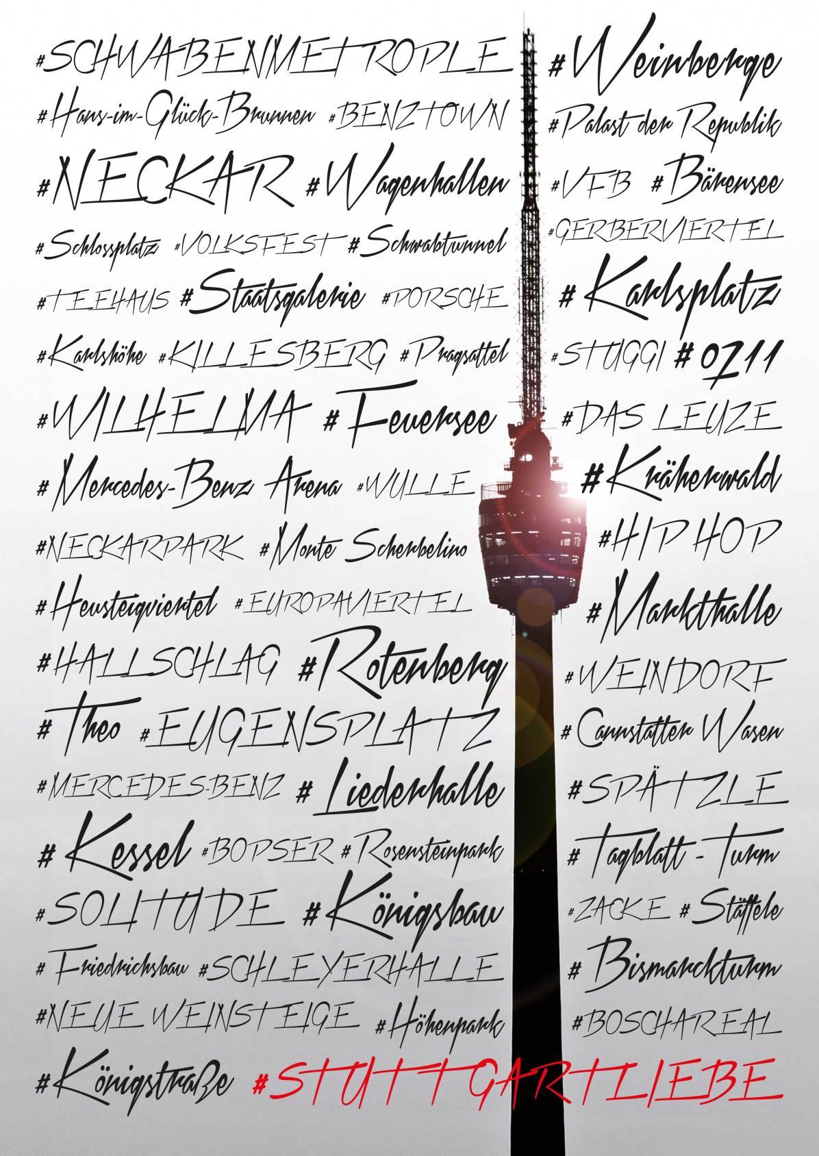HASHTAG STUTTGARTLIEBE Poster bei uns im SHOP erhältlich!