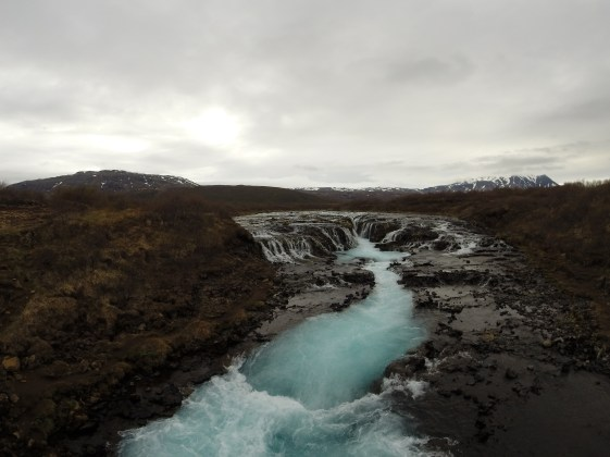 BRÚARFOSS - blauster Wasserfall Islands