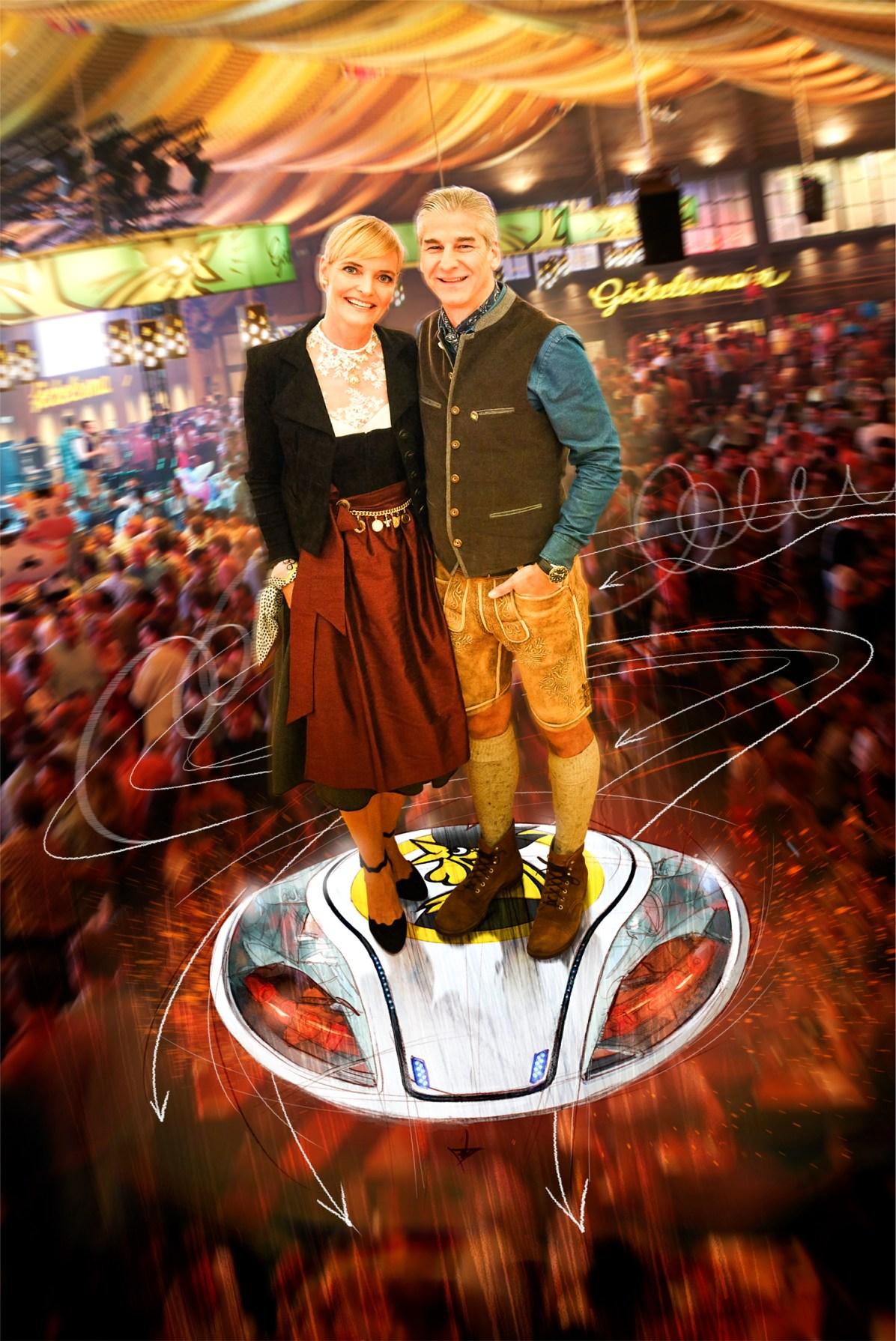 Daniela und Karl J. Maier auf dem Sprung in die Zukunft...