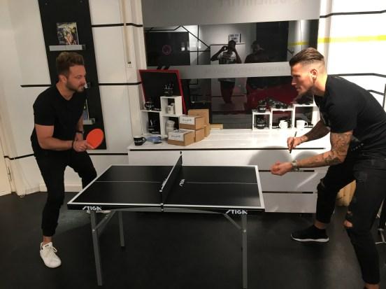 Tischtennismatch im GTS HQ: VOLLE KONZENTRATION!