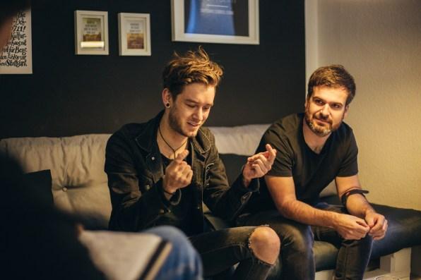 Luca und André im GTS HQ...