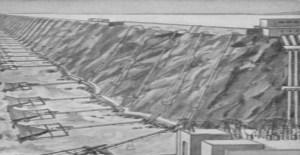 Hydraulische Widder an der Küste