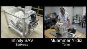 Zwei funktionierende Magnetmotoren