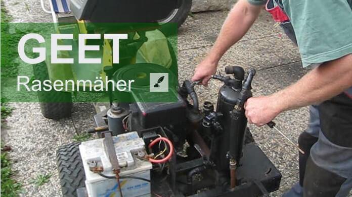 Geet - Rasenmäher läuft mit Wasser und Altöl