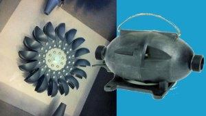 Pelton Turbine und Torpedo Pumpe