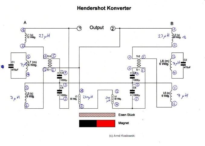 Hendershot - Schaltplan+Bauteilwerte+Anschlüsse