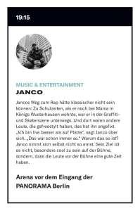 Panorama Berlin Janco Profil