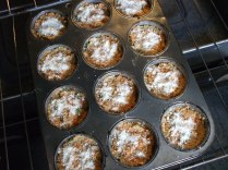 in the muffin pans ready to go...