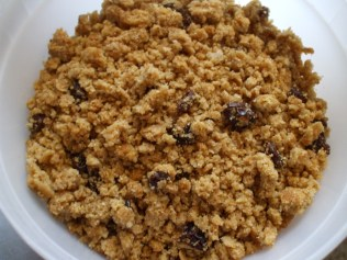 Baked, crumbled, and ready to serve!
