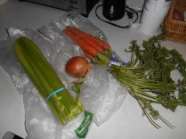 Fresh veggies for the broth...