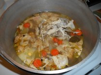 Broth ready to be strained...
