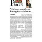 """04-02-2017 Corriere del Trentino e dell'Alto Adige Valle Isarco tour del gusto Formaggi """"doc"""" in Primiero"""