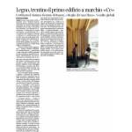 """10-07-2016 Corriere del Trentino Legno, trentino il primo edificio a marchio """"Ce"""""""