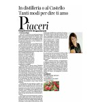 13-02-2016 Corriere del Trentino In distilleria o al castello tanto modi di dire ti amo