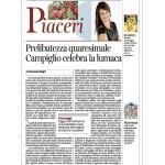 21-02-2015 Corriere del Trentino - dell'Alto Adige Prelibatezza quaresimale. Campiglio celebra la lumaca