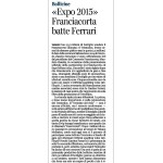 Corriere del Trentino Bollicine Expo 2015 Franciacorta schlägt Ferrari