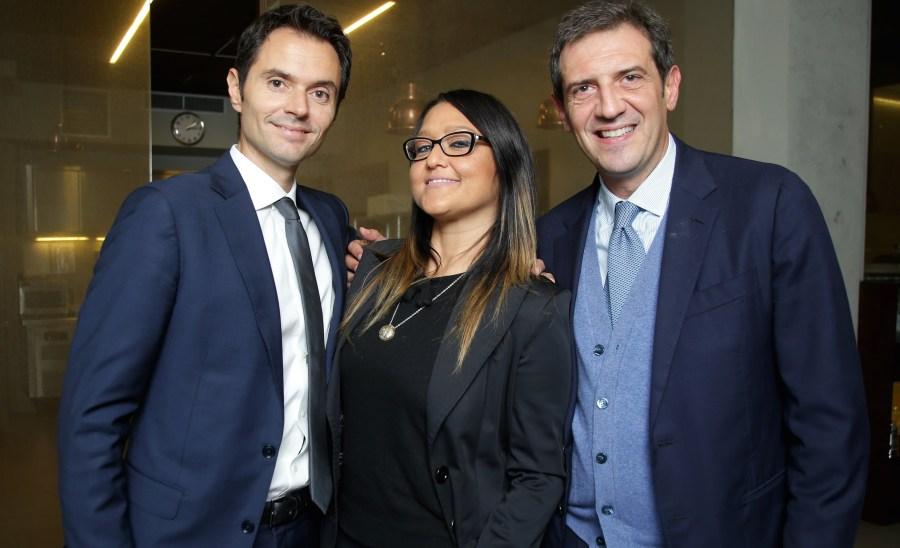 Da sx, Alessandro Lunelli, Francesca Negri, Beniamino Garofalo. Photo Canio Romaniello/ OLYCOM