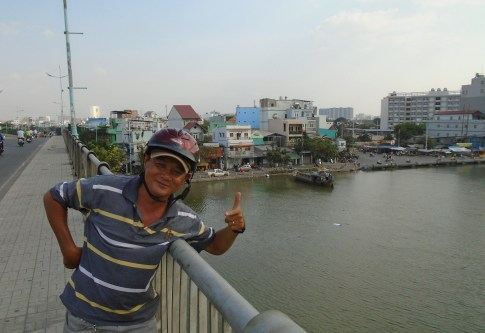 Htiched a ride with this guy in Saigon