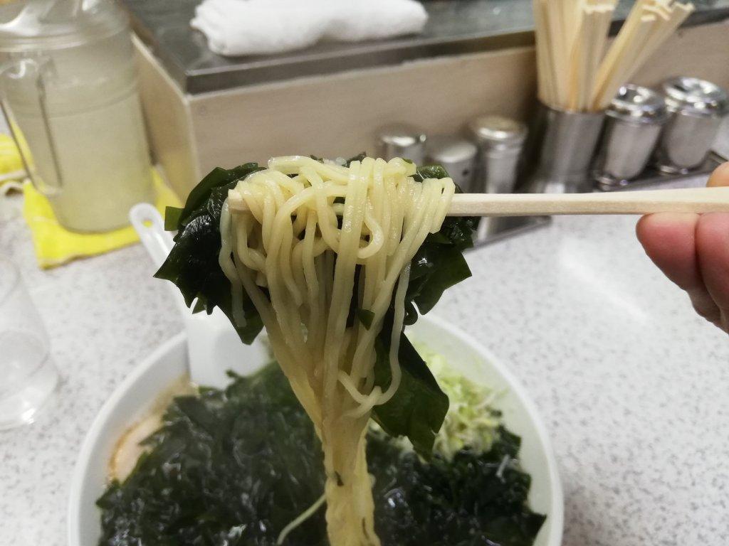 江戸川区篠崎のラーメン屋さん勝のラーメンの麺