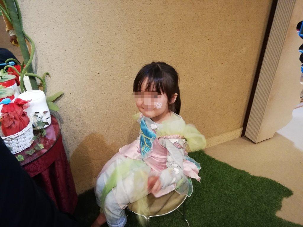アンデルセンスタジオの親指姫のチョウ役の衣装