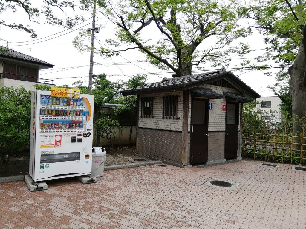 古川親水公園のトイレと自販機