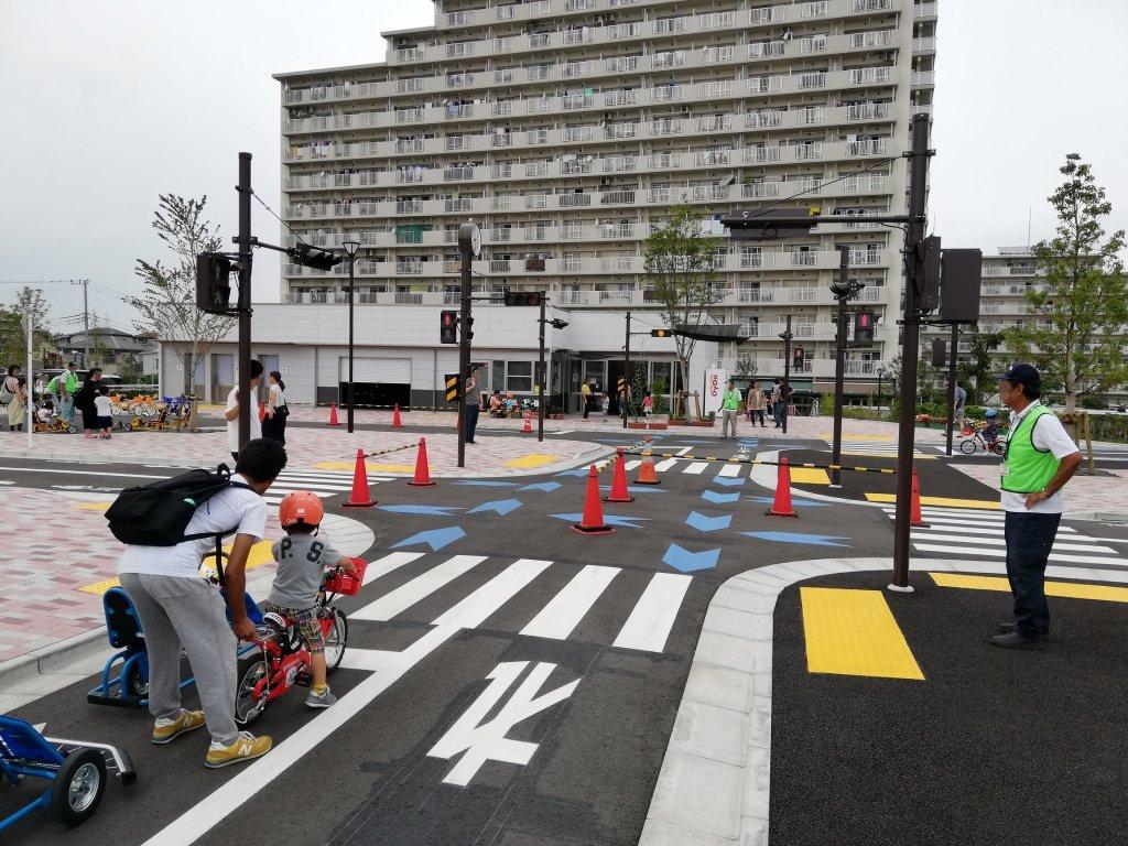 江戸川区東部交通公園の交差点
