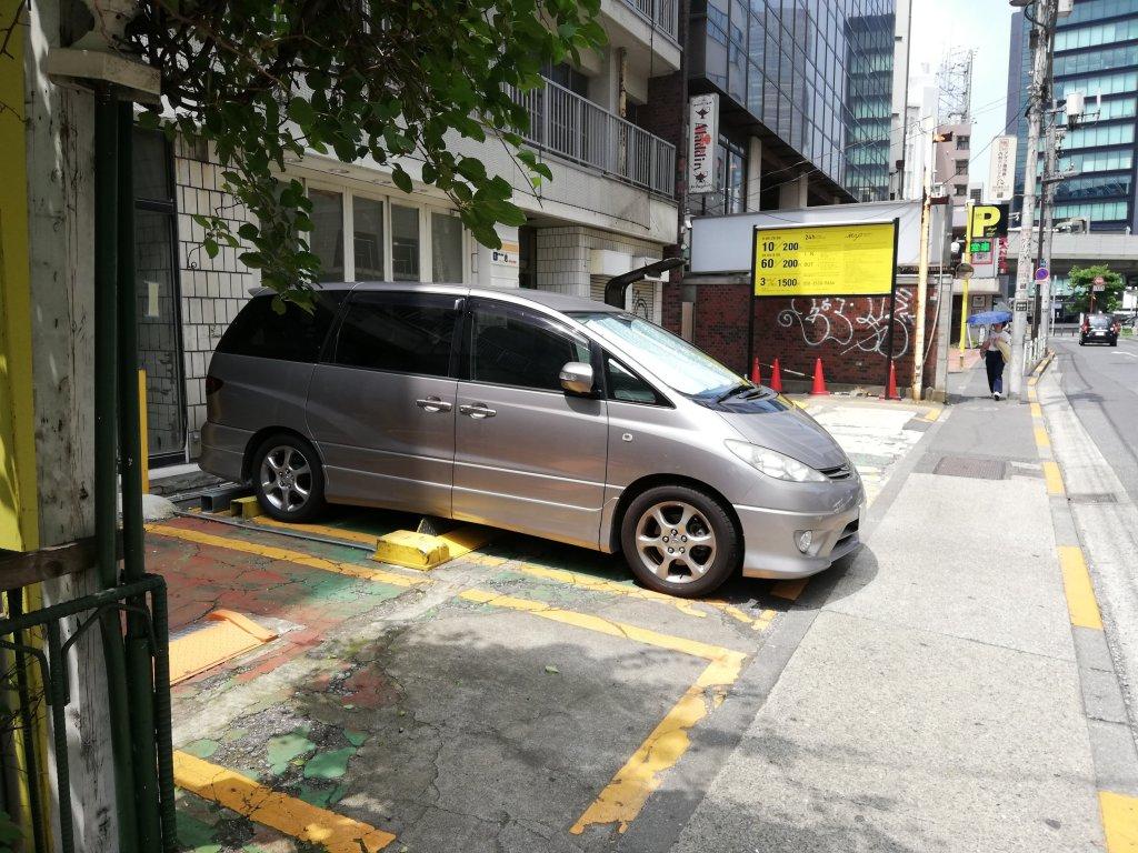 テレビ朝日通り沿いのコインパーキング