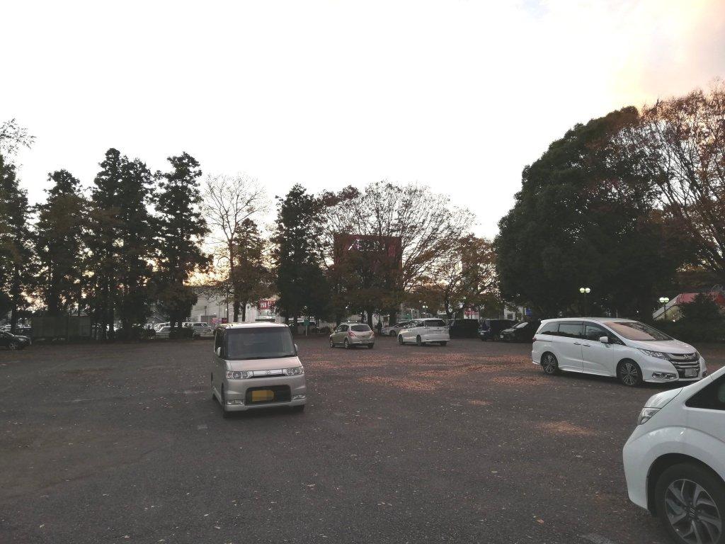 もりのゆうえんちの駐車場
