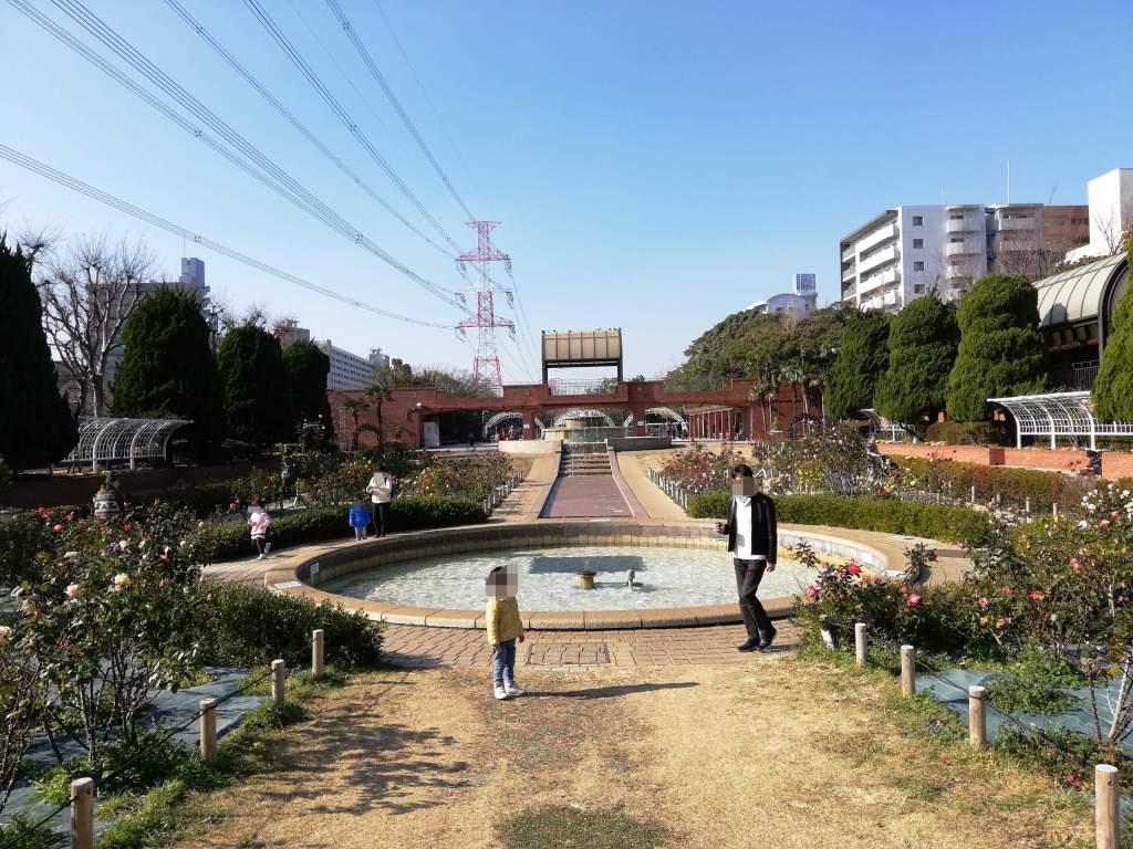 江戸川区のフラワーガーデンの花壇