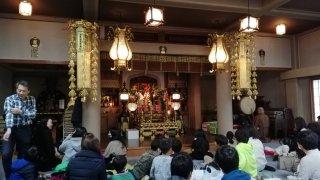 江戸川区鹿骨の密蔵院のお堂
