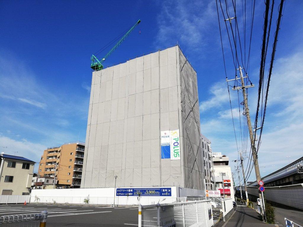 建設途中のマンション「ルピアコート篠崎」