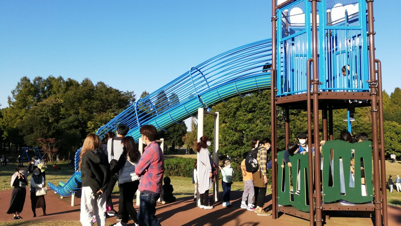 葛飾区の水元公園の滑り台