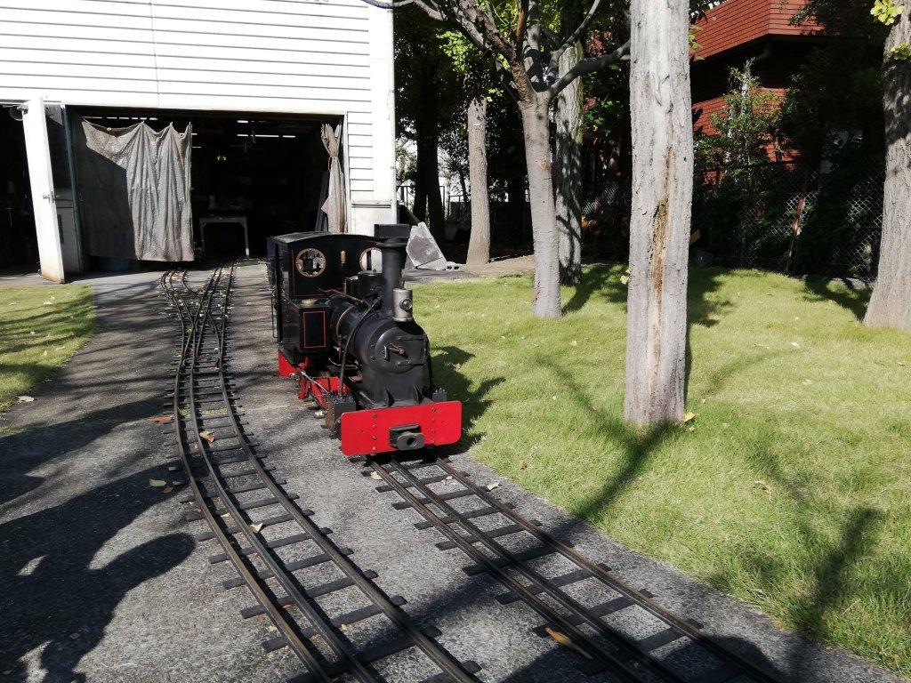 葛飾区の新宿交通公園のミニ機関車