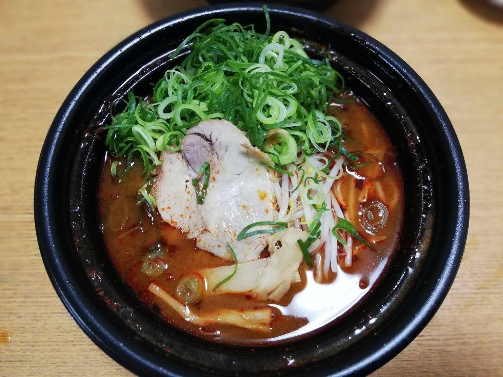 ラーメン魁力屋篠崎店の辛みそラーメンのテイクアウト