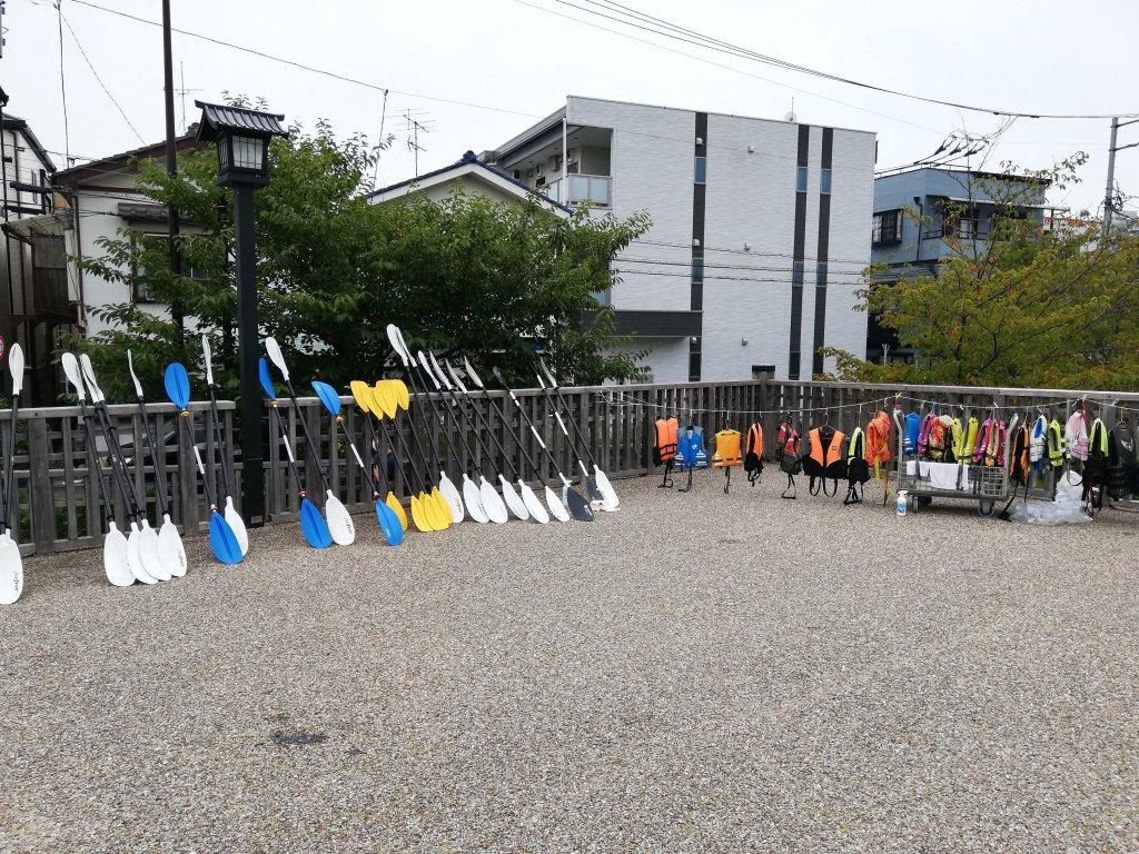 新川のカヤック乗船体験会場