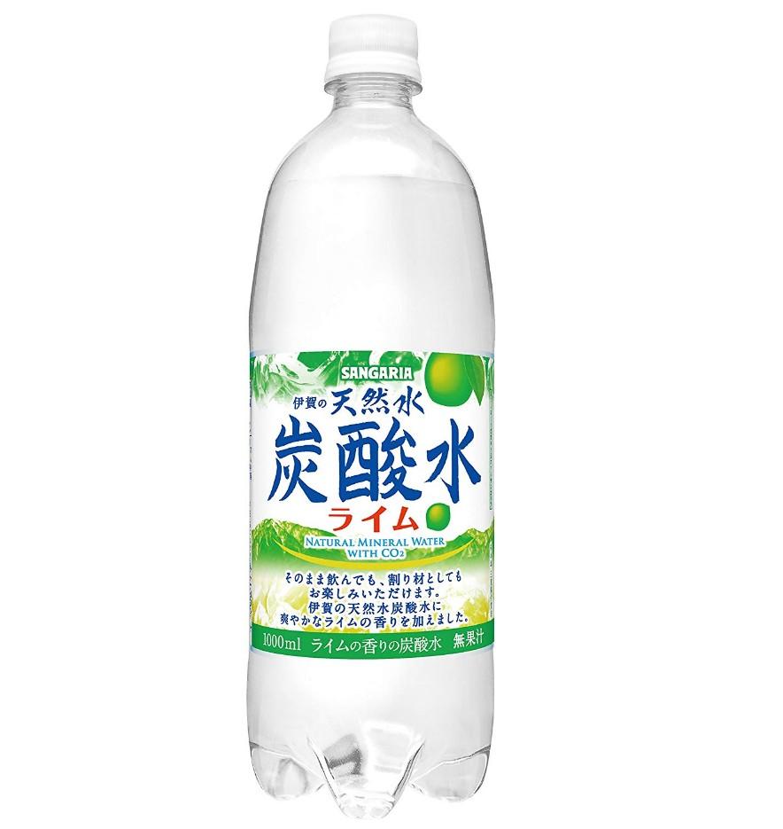 サンガリア 伊賀の天然水 炭酸水 ライム 1000ml×12本が50%OFF ...