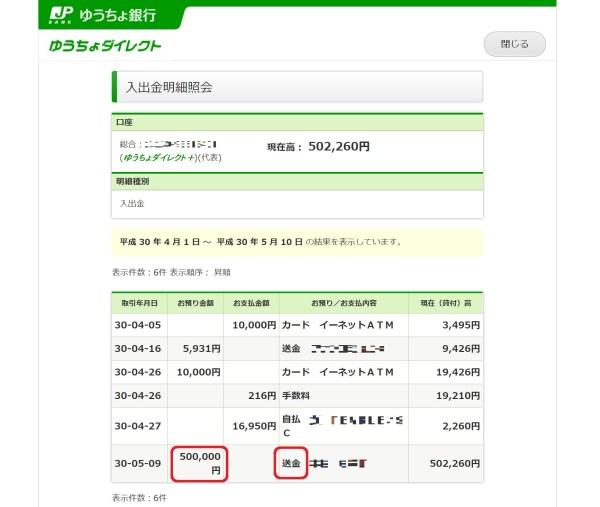 両親に50万円を借金、これで住民税を払う。