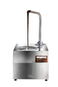Fuente de chocolate heladería pastelería