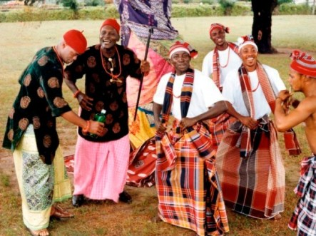 Igbo men dancing