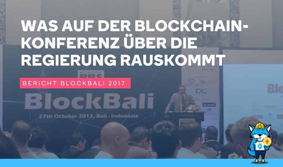 Riesenblamage! Was auf der Blockchain Konferenz über die Regierung rauskommt