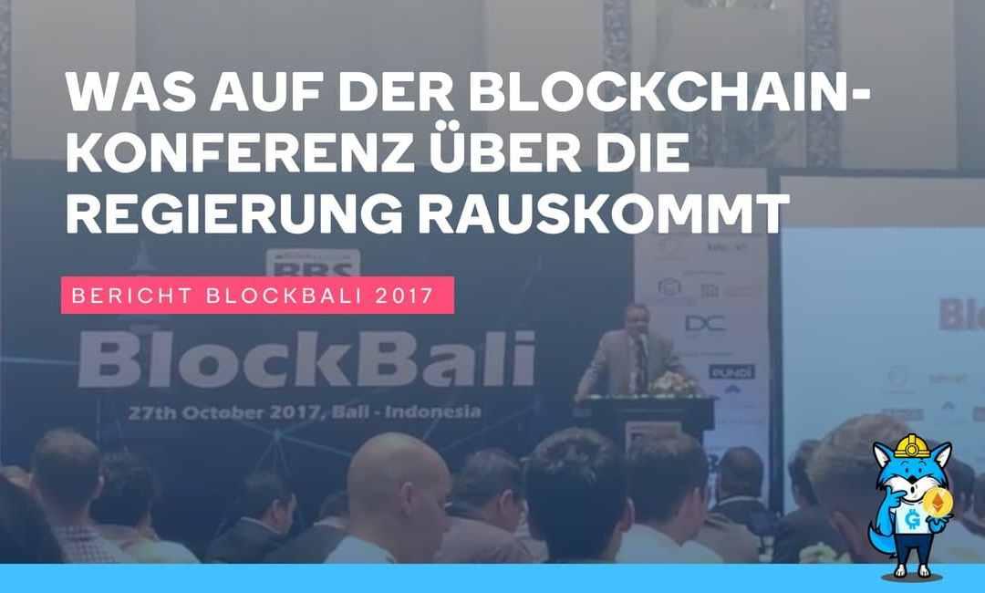 Riesenblamage! Was auf der Blockchainkonferenz über die Regierung ...
