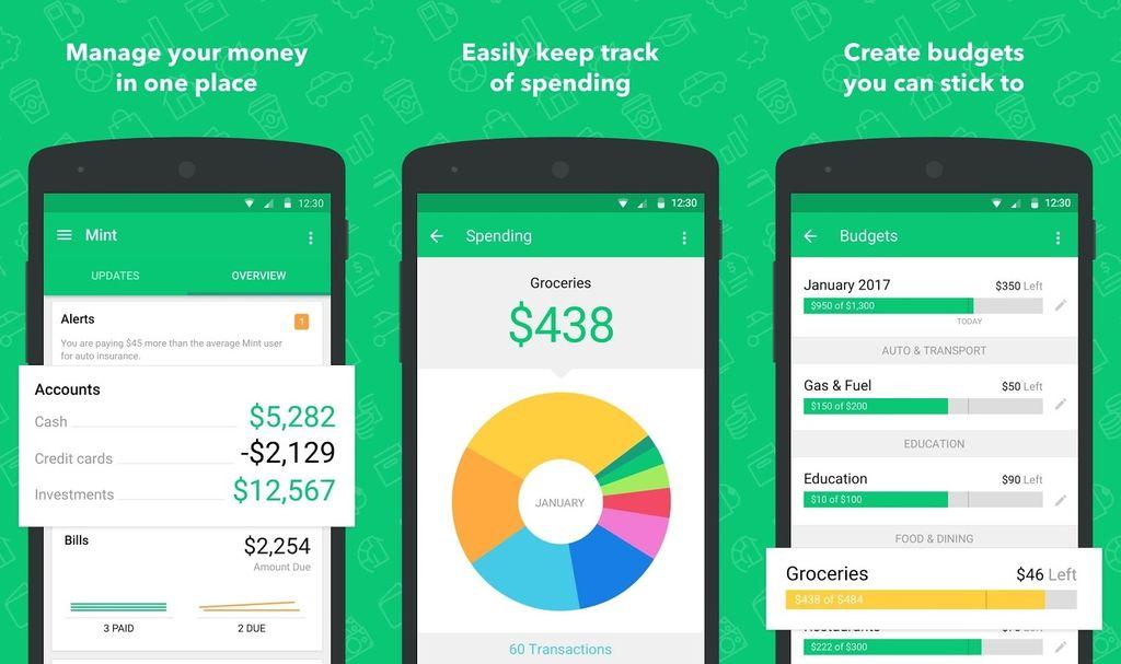Screenshot: App mint Haushaltsbuch