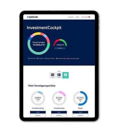 Interface der digitalen Vermögensverwaltung Kapilendo