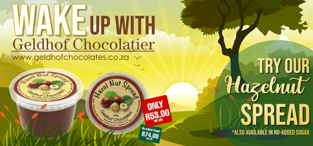 Wake up with Geldhof Chocolatier! Try our Hazelnut Spread! Also Available in No-Added Sugar!