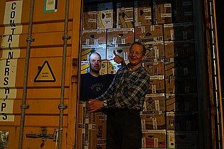 Allans sidste container til Letland